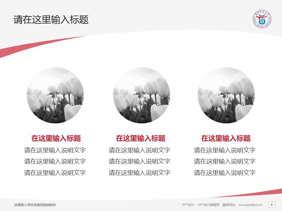台湾首府大学PPT模板下载_幻灯片预览图4
