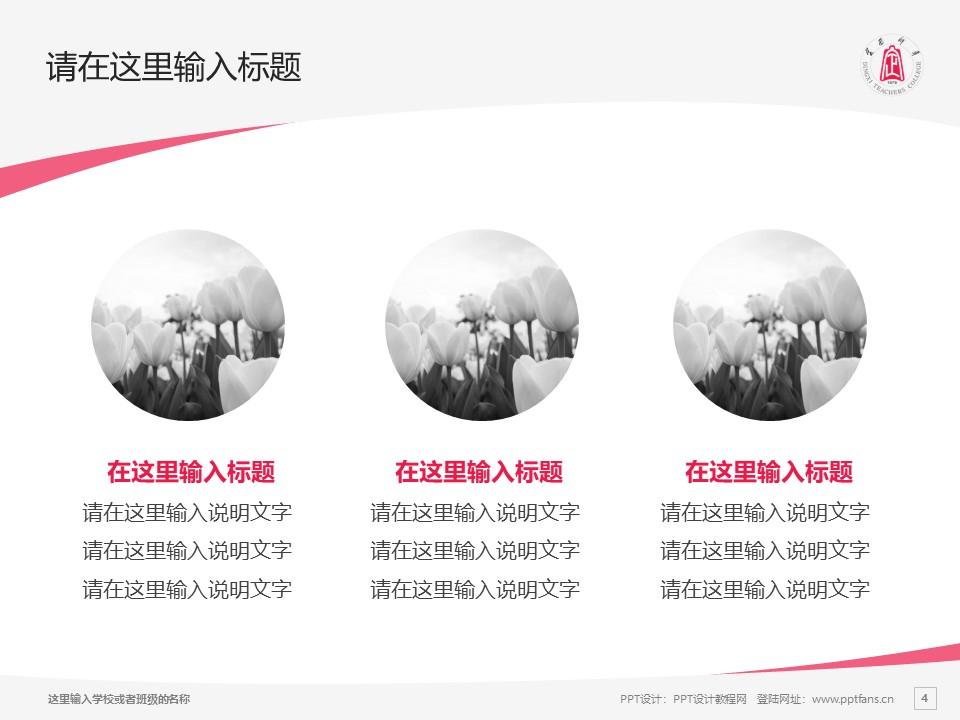 定西师范高等专科学校PPT模板下载_幻灯片预览图4