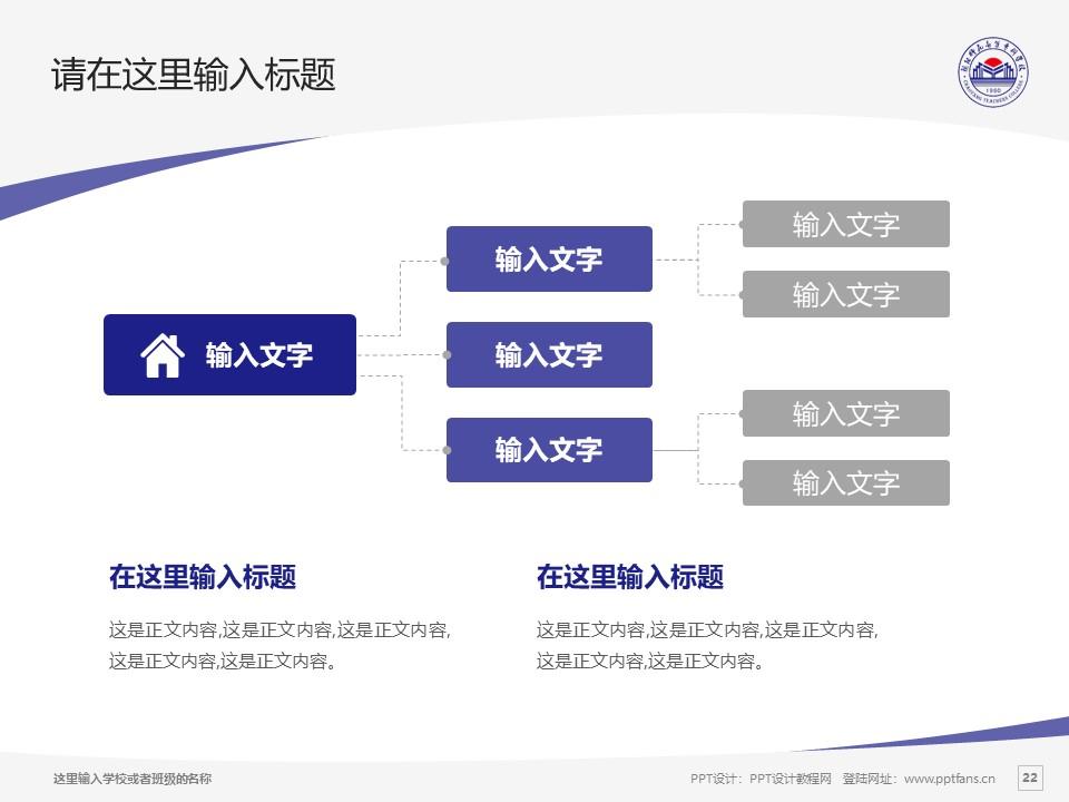 朝阳师范高等专科学校PPT模板下载_幻灯片预览图22