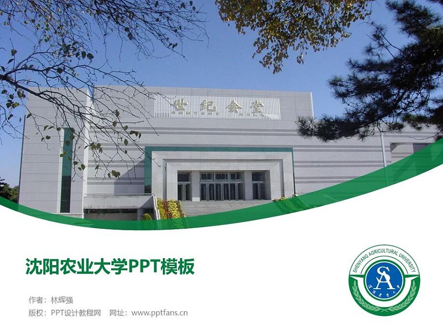 沈阳农业大学PPT模板下载_幻灯片预览图1