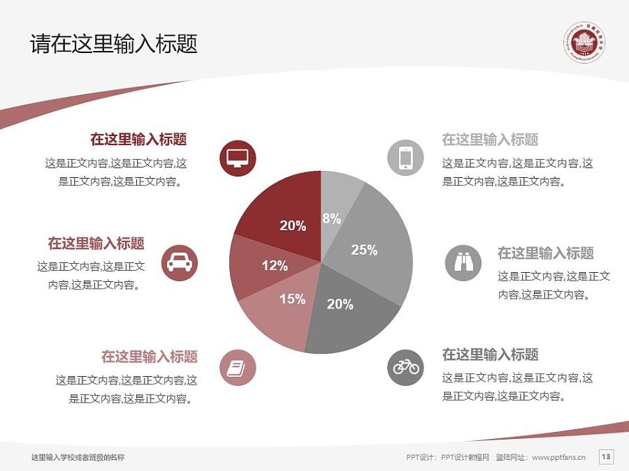 西藏民族学院PPT模板下载_幻灯片预览图13