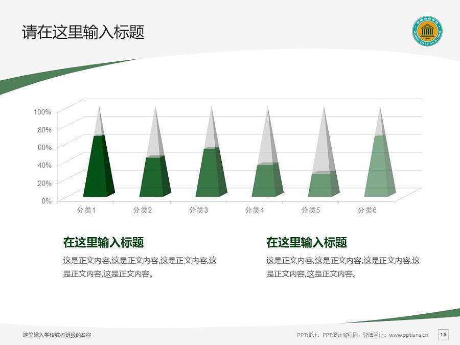 新疆师范高等专科学校PPT模板下载_幻灯片预览图16