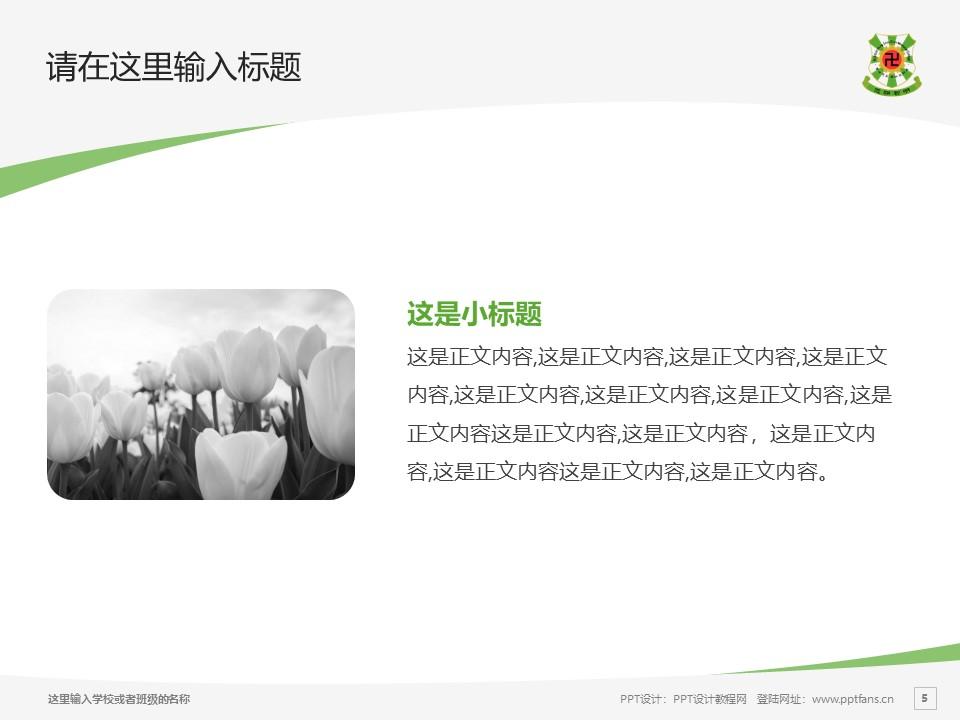 佛教孔仙洲纪念中学PPT模板下载_幻灯片预览图5