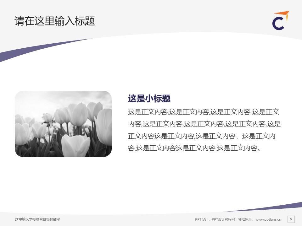 香港专业进修学校PPT模板下载_幻灯片预览图5