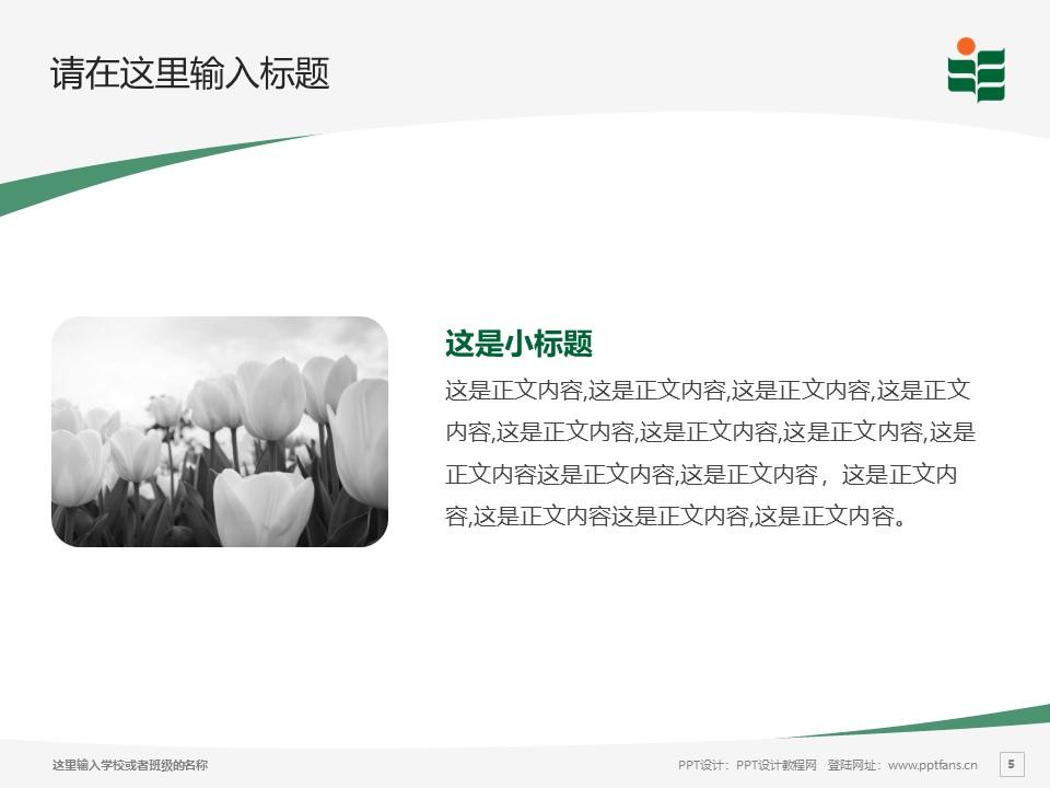 香港教育大学PPT模板下载_幻灯片预览图5