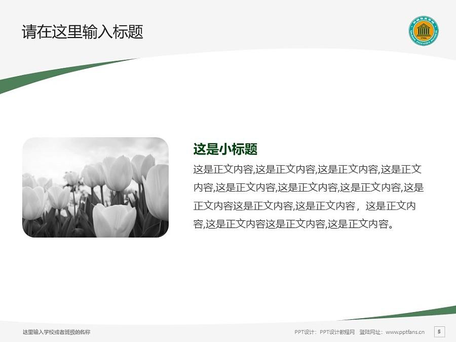 新疆师范高等专科学校PPT模板下载_幻灯片预览图5