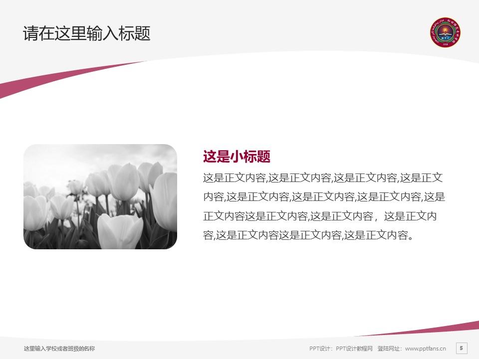 和田师范专科学校PPT模板下载_幻灯片预览图5