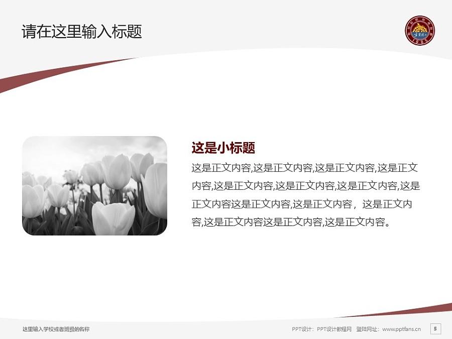 宁夏理工学院PPT模板下载_幻灯片预览图5