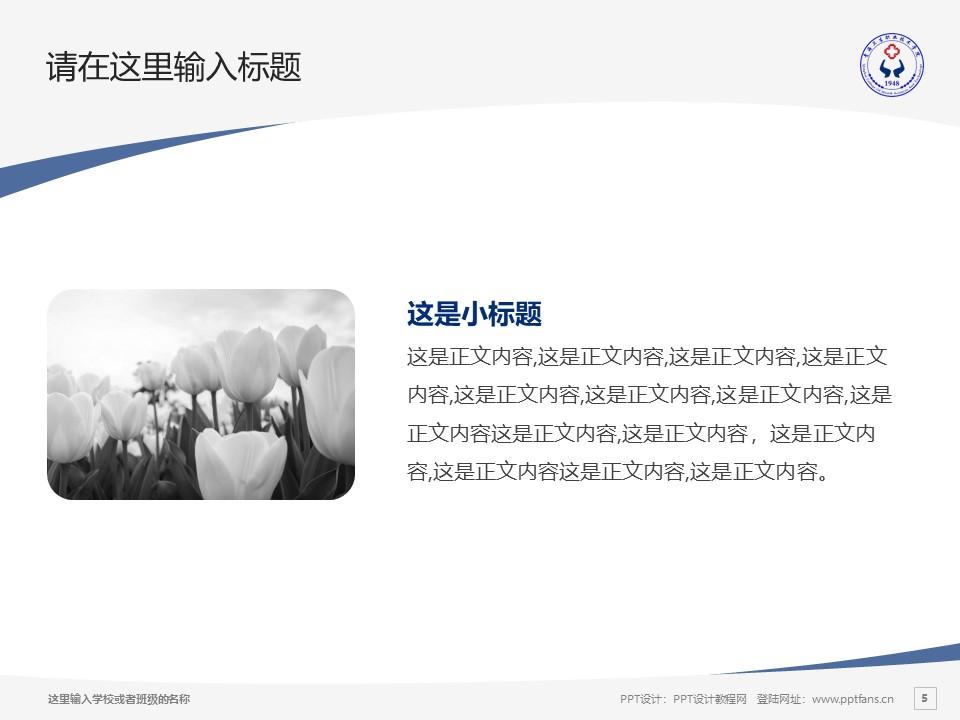 青海卫生职业技术学院PPT模板下载_幻灯片预览图5