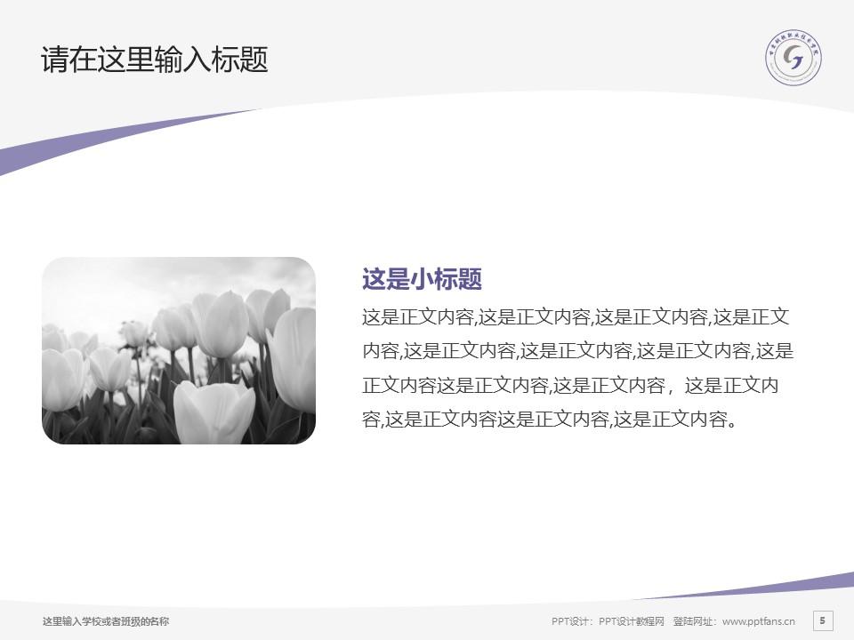 甘肃钢铁职业技术学院PPT模板下载_幻灯片预览图5