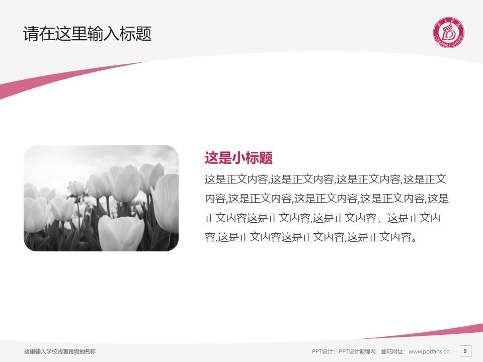 陇东学院PPT模板下载_幻灯片预览图5