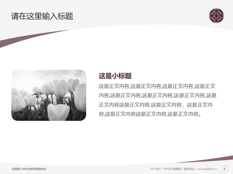 辽宁交通高等专科学校PPT模板下载_幻灯片预览图5
