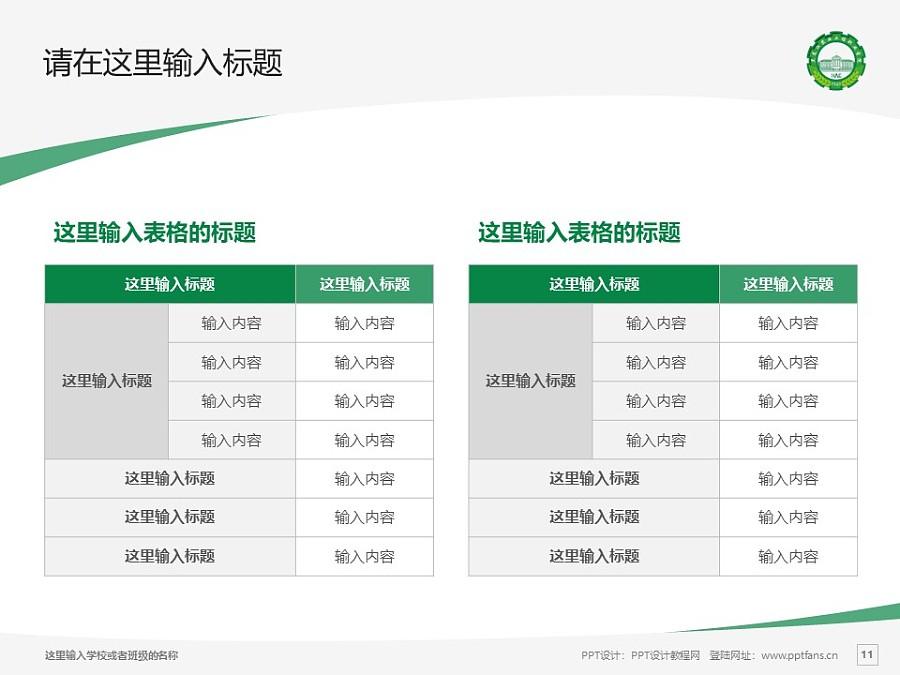 黑龙江农业工程职业学院PPT模板下载_幻灯片预览图11