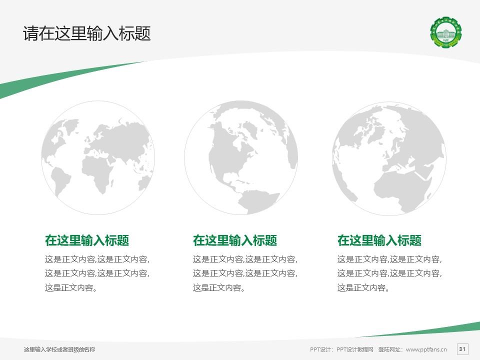 黑龙江农业工程职业学院PPT模板下载_幻灯片预览图31