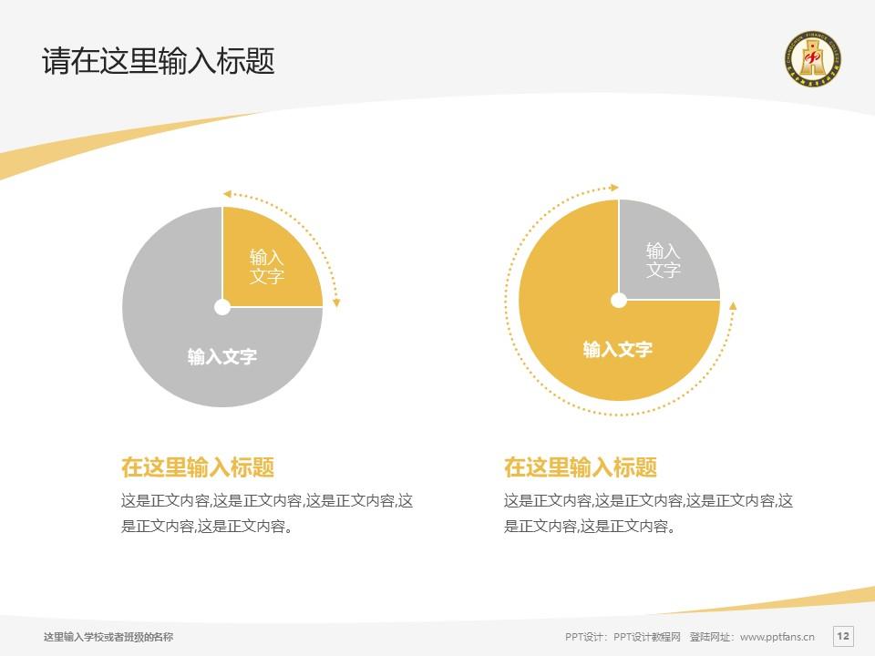 长春金融高等专科学校PPT模板_幻灯片预览图12