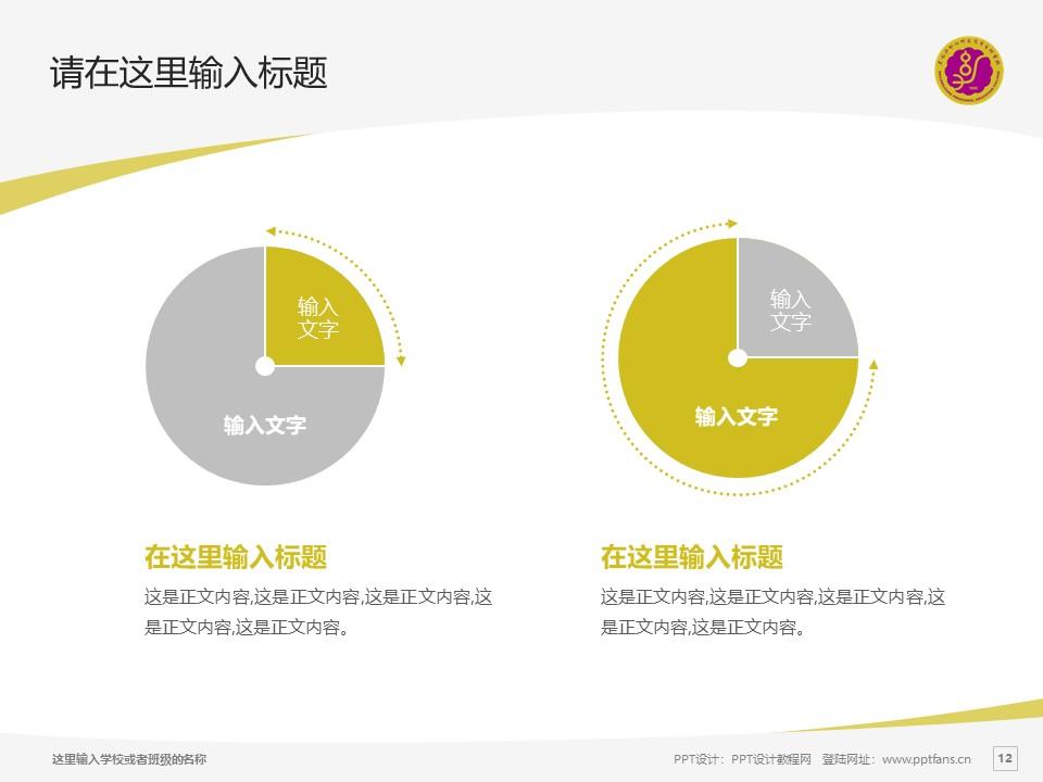 黑龙江幼儿师范高等专科学校PPT模板下载_幻灯片预览图12