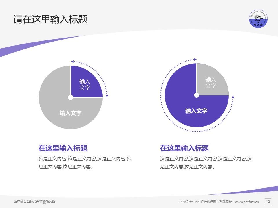 哈尔滨工程技术职业学院PPT模板下载_幻灯片预览图12