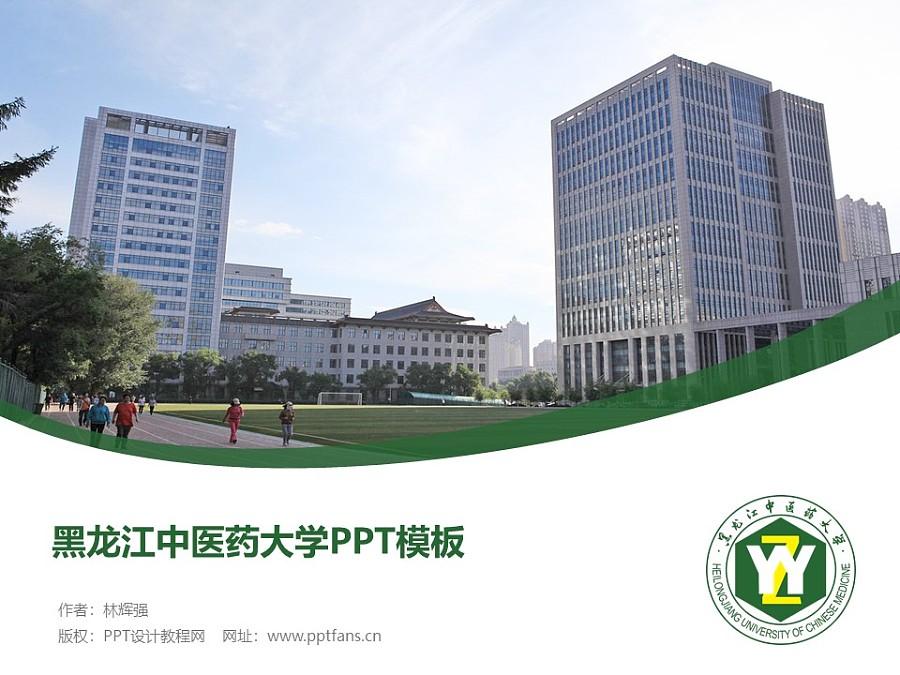 黑龙江中医药大学PPT模板下载_幻灯片预览图1