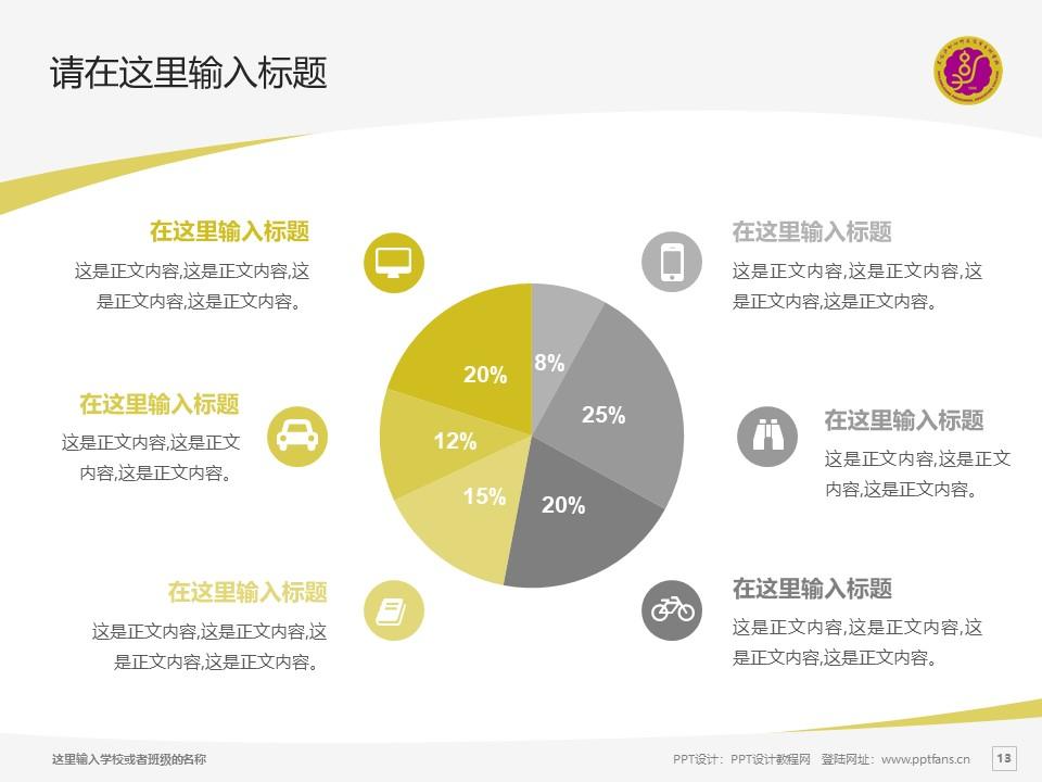 黑龙江幼儿师范高等专科学校PPT模板下载_幻灯片预览图13
