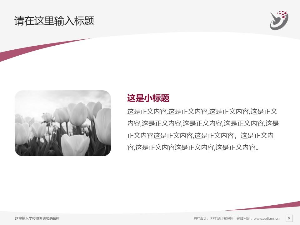 哈尔滨职业技术学院PPT模板下载_幻灯片预览图5