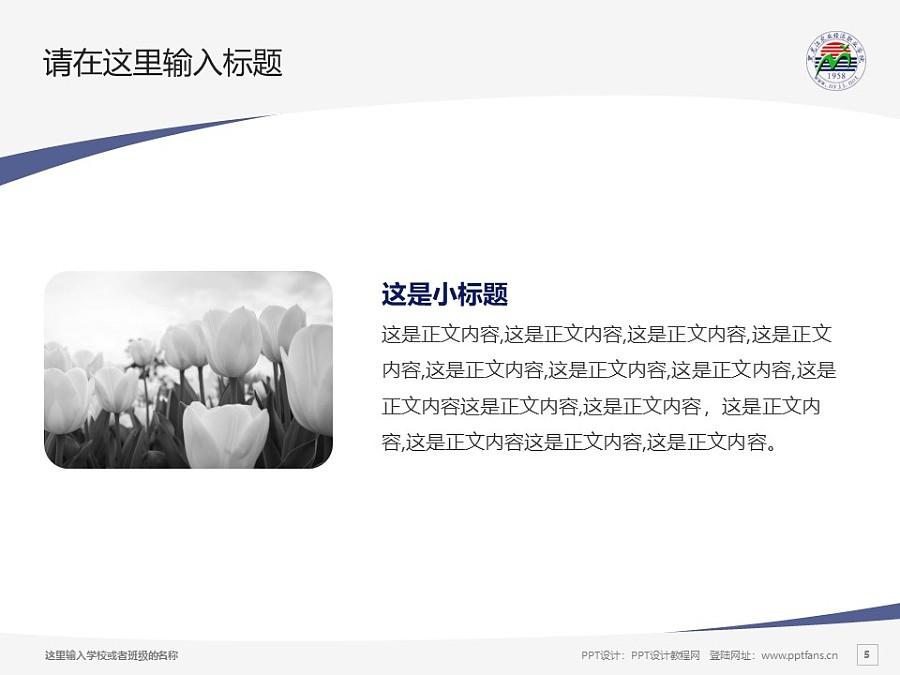 黑龙江农业经济职业学院PPT模板下载_幻灯片预览图5