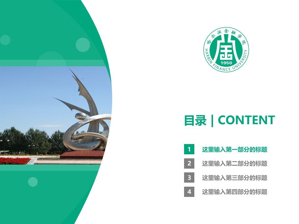 哈尔滨金融学院PPT模板下载_幻灯片预览图3