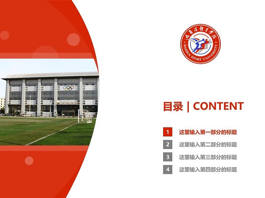 哈尔滨体育学院PPT模板下载_幻灯片预览图3