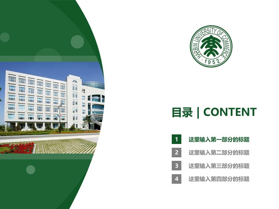 哈尔滨商业大学PPT模板下载_幻灯片预览图3