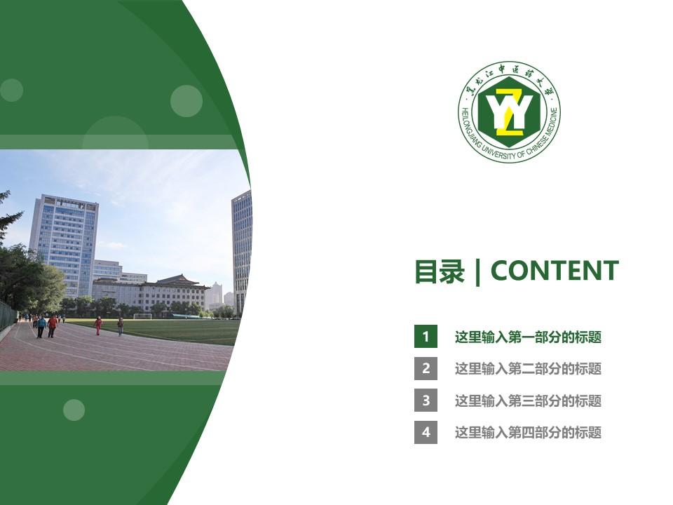 黑龙江中医药大学PPT模板下载_幻灯片预览图3