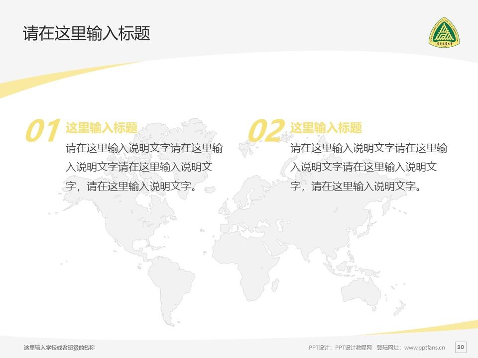 重庆邮电大学PPT模板_幻灯片预览图30