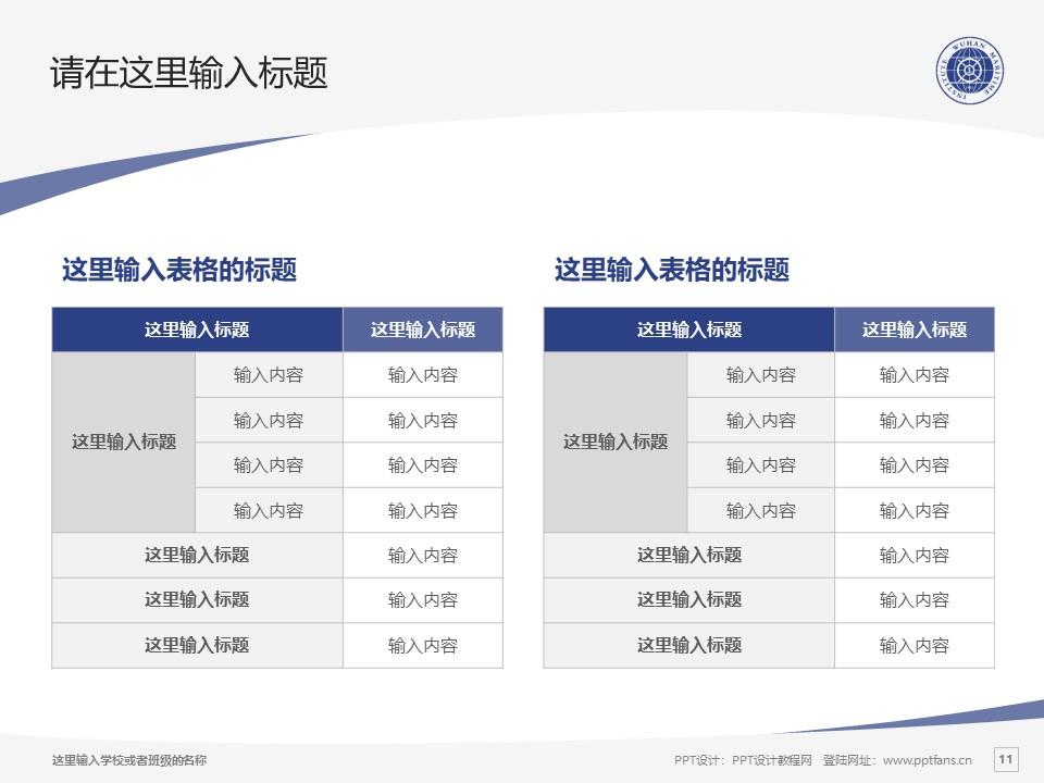 武汉航海职业技术学院PPT模板下载_幻灯片预览图11