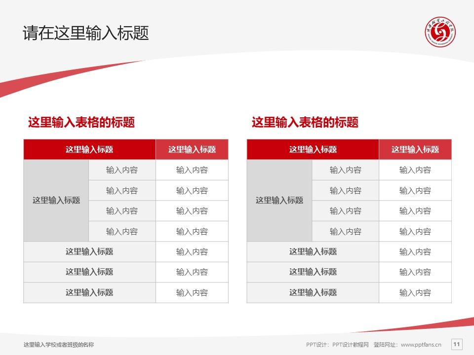 陕西服装工程学院PPT模板下载_幻灯片预览图11