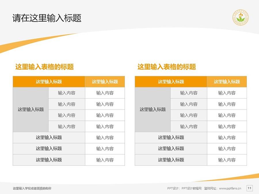 天津医学高等专科学校PPT模板下载_幻灯片预览图11