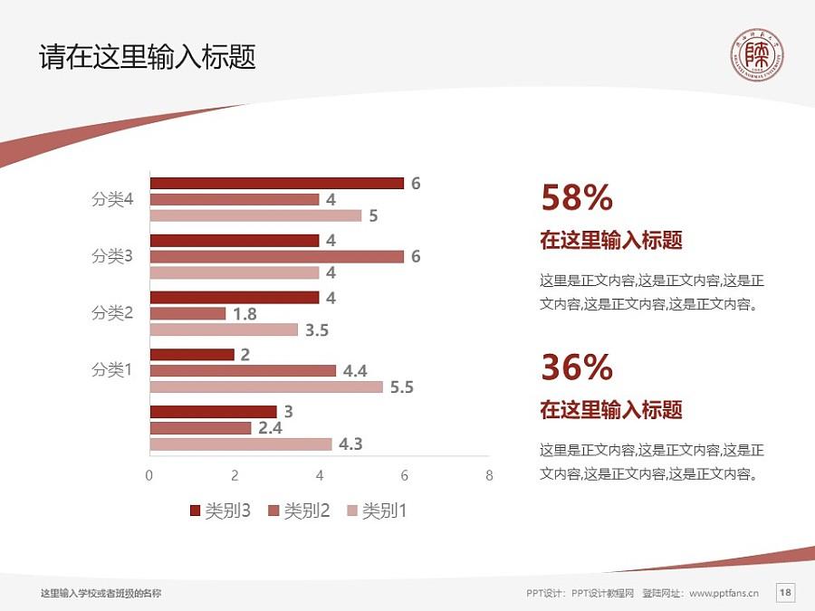 陕西师范大学PPT模板下载_幻灯片预览图18