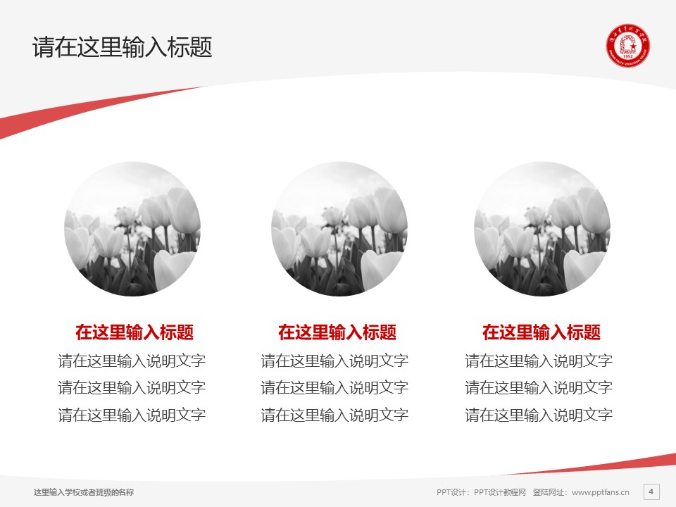 陕西青年职业学院PPT模板下载_幻灯片预览图4