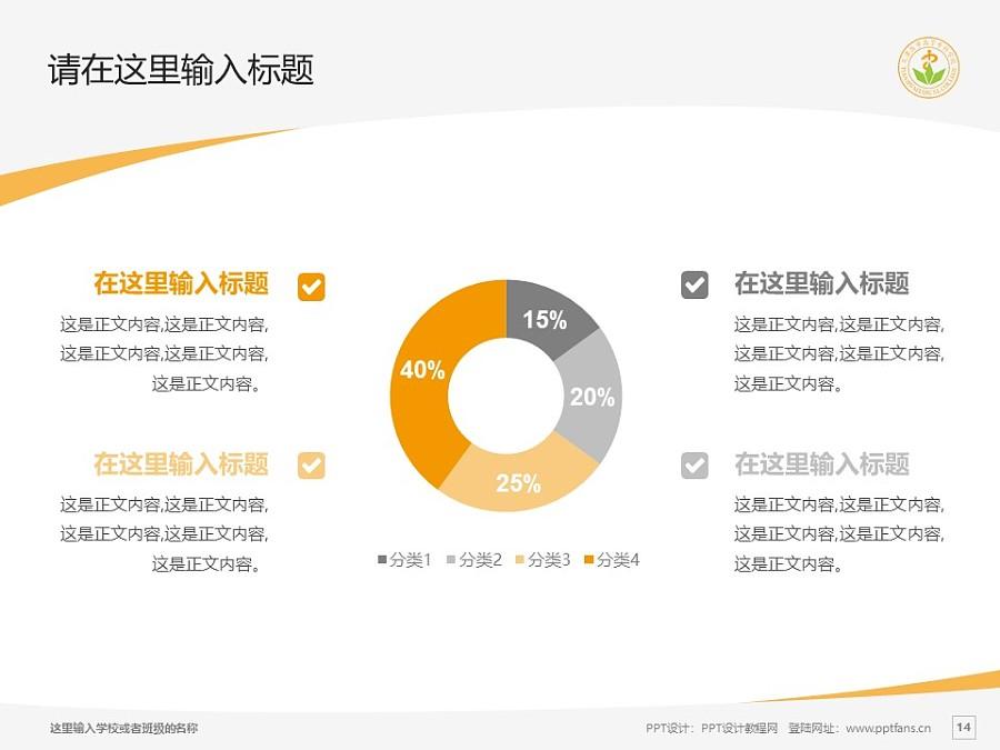 天津医学高等专科学校PPT模板下载_幻灯片预览图14