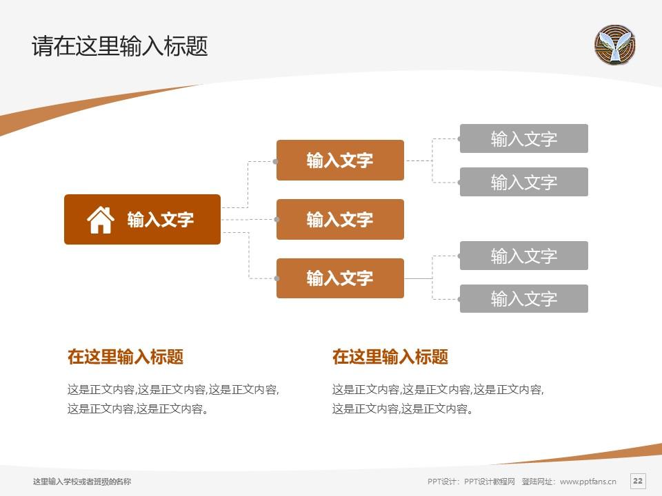 湖北幼儿师范高等专科学校PPT模板下载_幻灯片预览图22