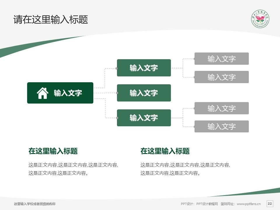 陕西工商职业学院PPT模板下载_幻灯片预览图22
