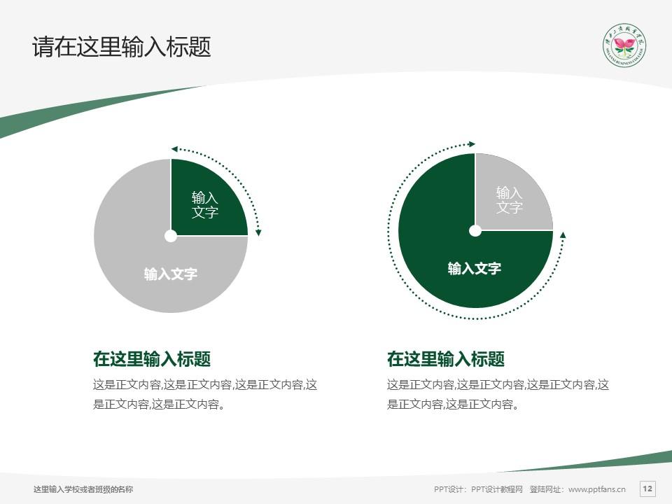 陕西工商职业学院PPT模板下载_幻灯片预览图12