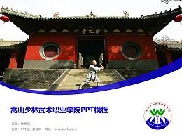 嵩山少林武术职业学院PPT模板下载
