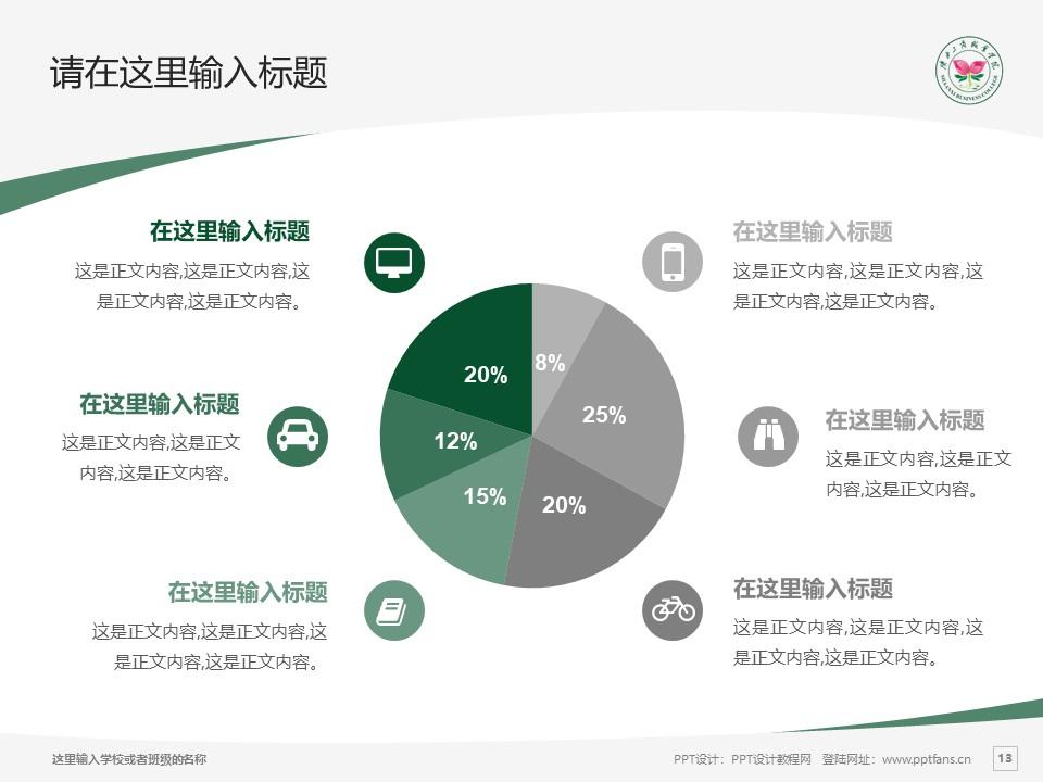 陕西工商职业学院PPT模板下载_幻灯片预览图13