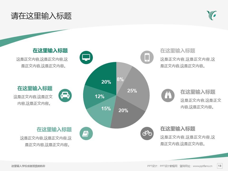 陕西财经职业技术学院PPT模板下载_幻灯片预览图13