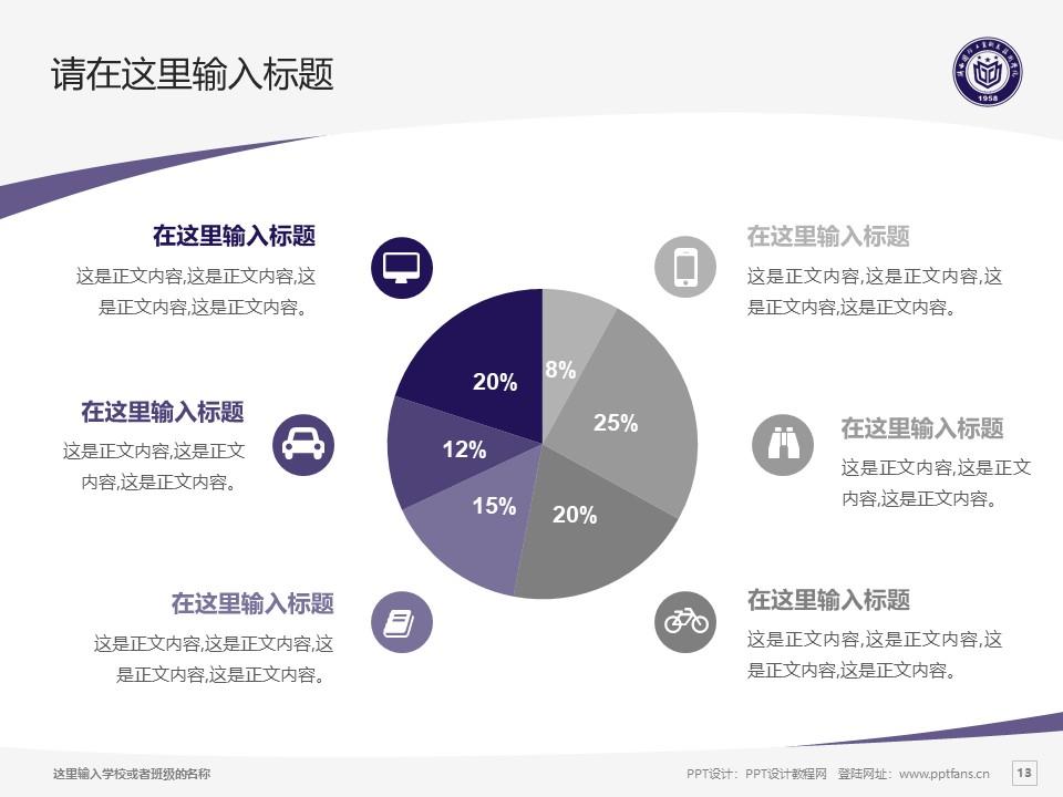 陕西国防工业职业技术学院PPT模板下载_幻灯片预览图13