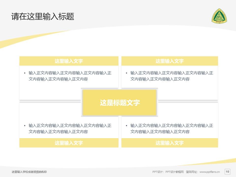 重庆邮电大学PPT模板_幻灯片预览图10