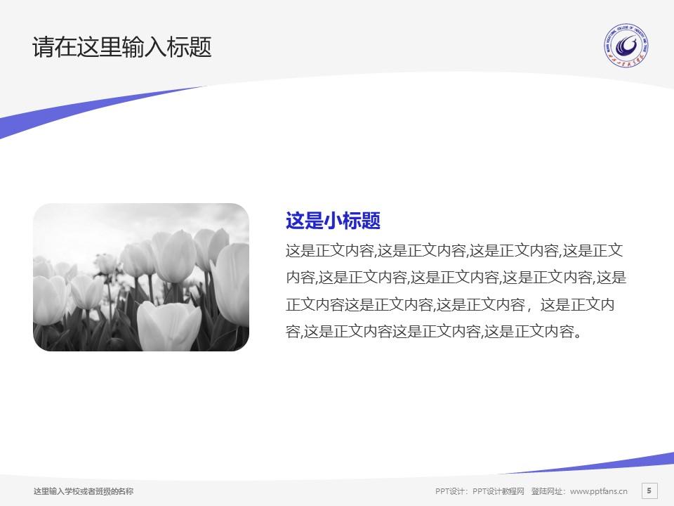 武汉工贸职业学院PPT模板下载_幻灯片预览图5