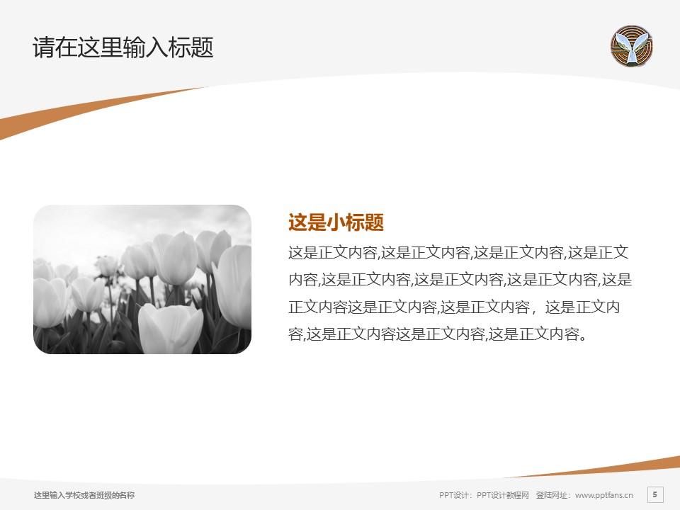 湖北幼儿师范高等专科学校PPT模板下载_幻灯片预览图5