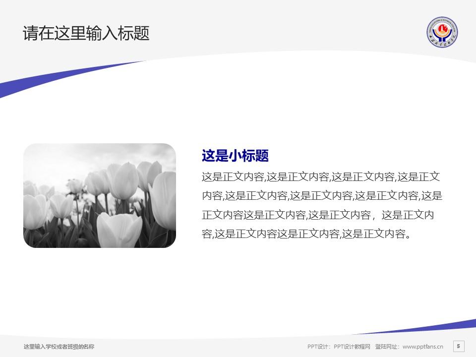延安职业技术学院PPT模板下载_幻灯片预览图5