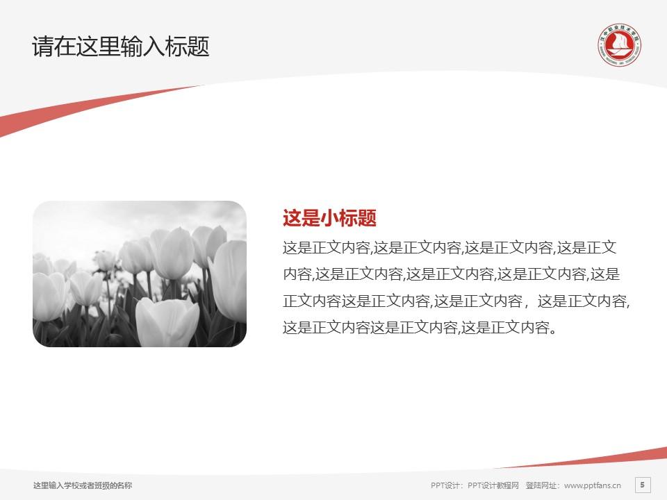 汉中职业技术学院PPT模板下载_幻灯片预览图5