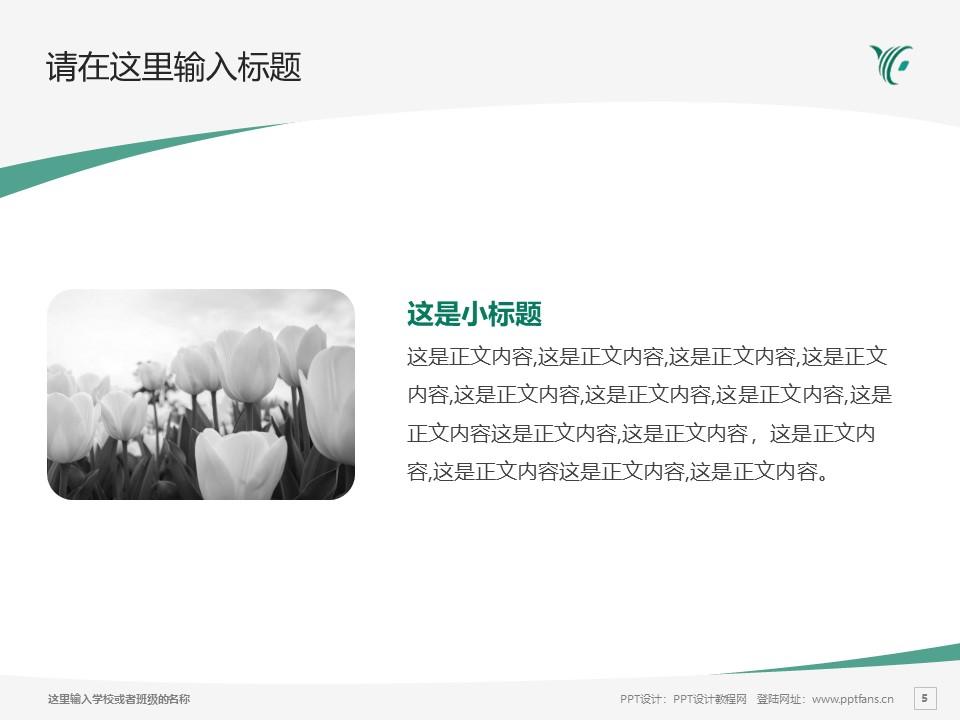 陕西财经职业技术学院PPT模板下载_幻灯片预览图5