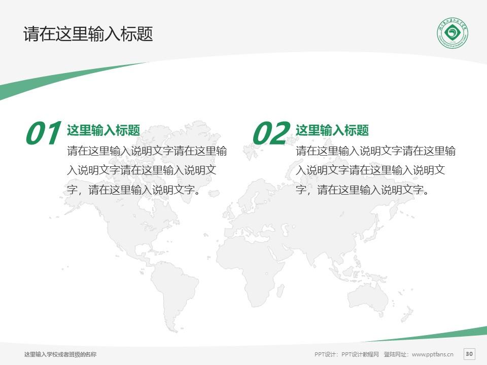 湖南食品药品职业学院PPT模板下载_幻灯片预览图30